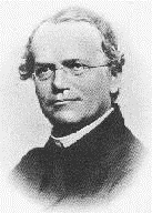 J.G. Mendel during his teaching years in Brno - a photo from 1862